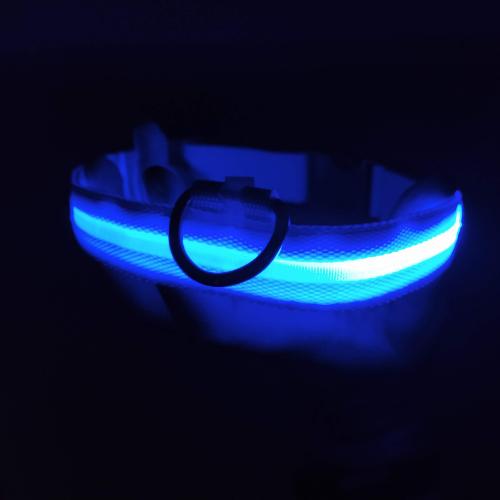 blue glow in the dark collar